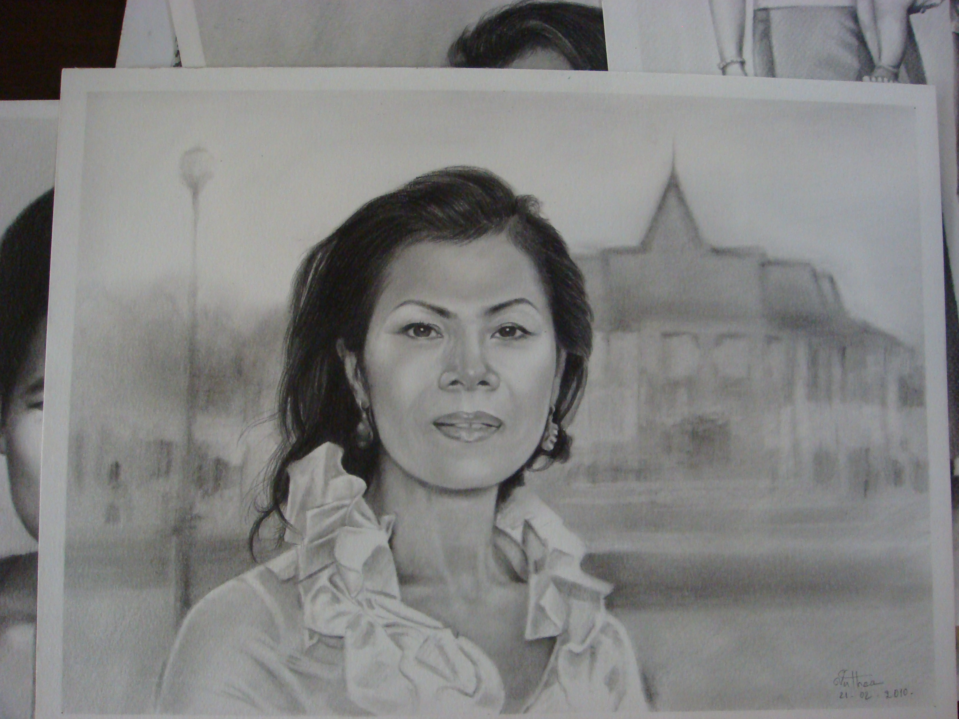 Theary Seng drawn by Vuthea Chea, April 2010