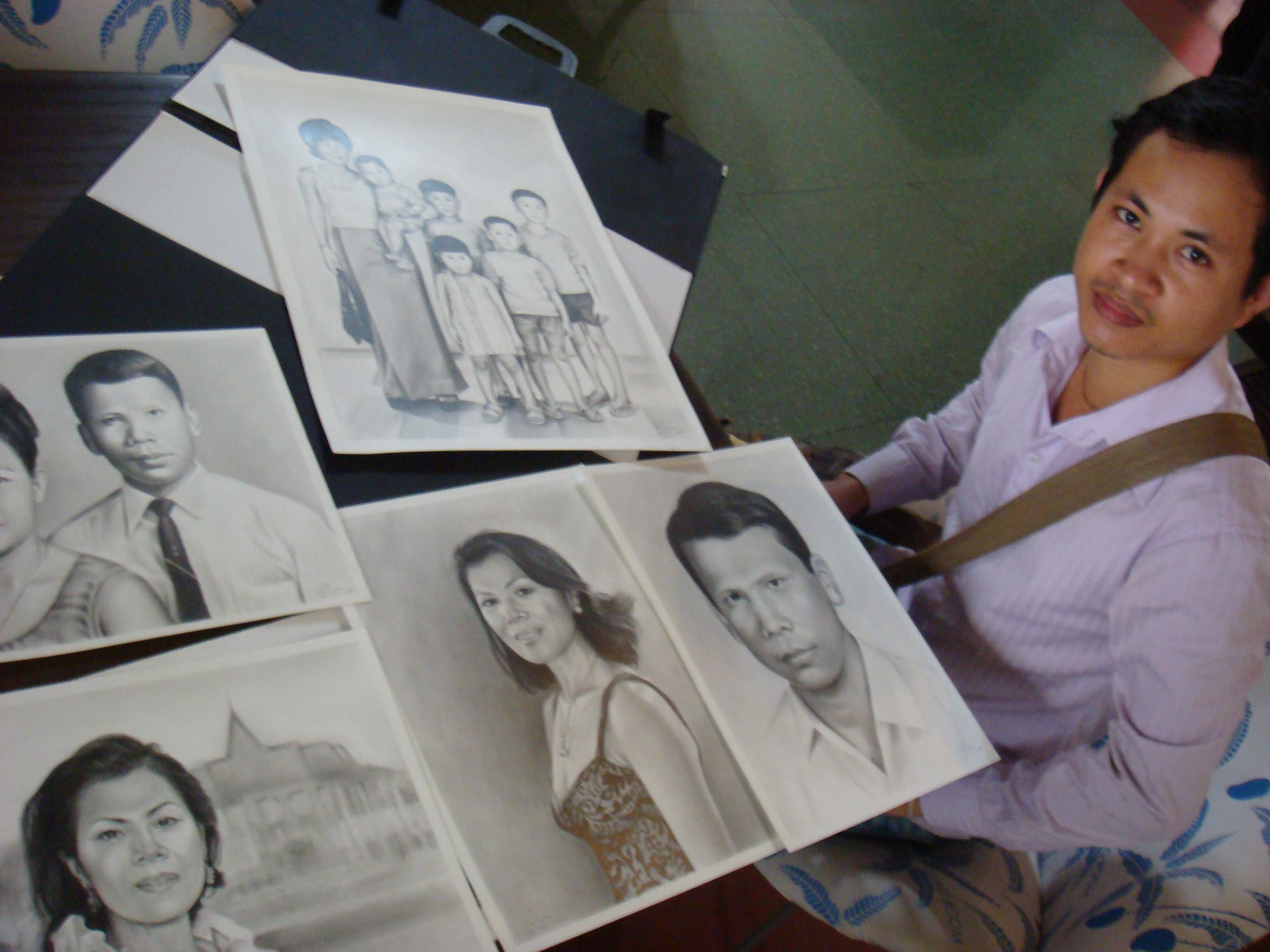 Theary Seng's family illustrated by artist Chea Vuthea, April 2010