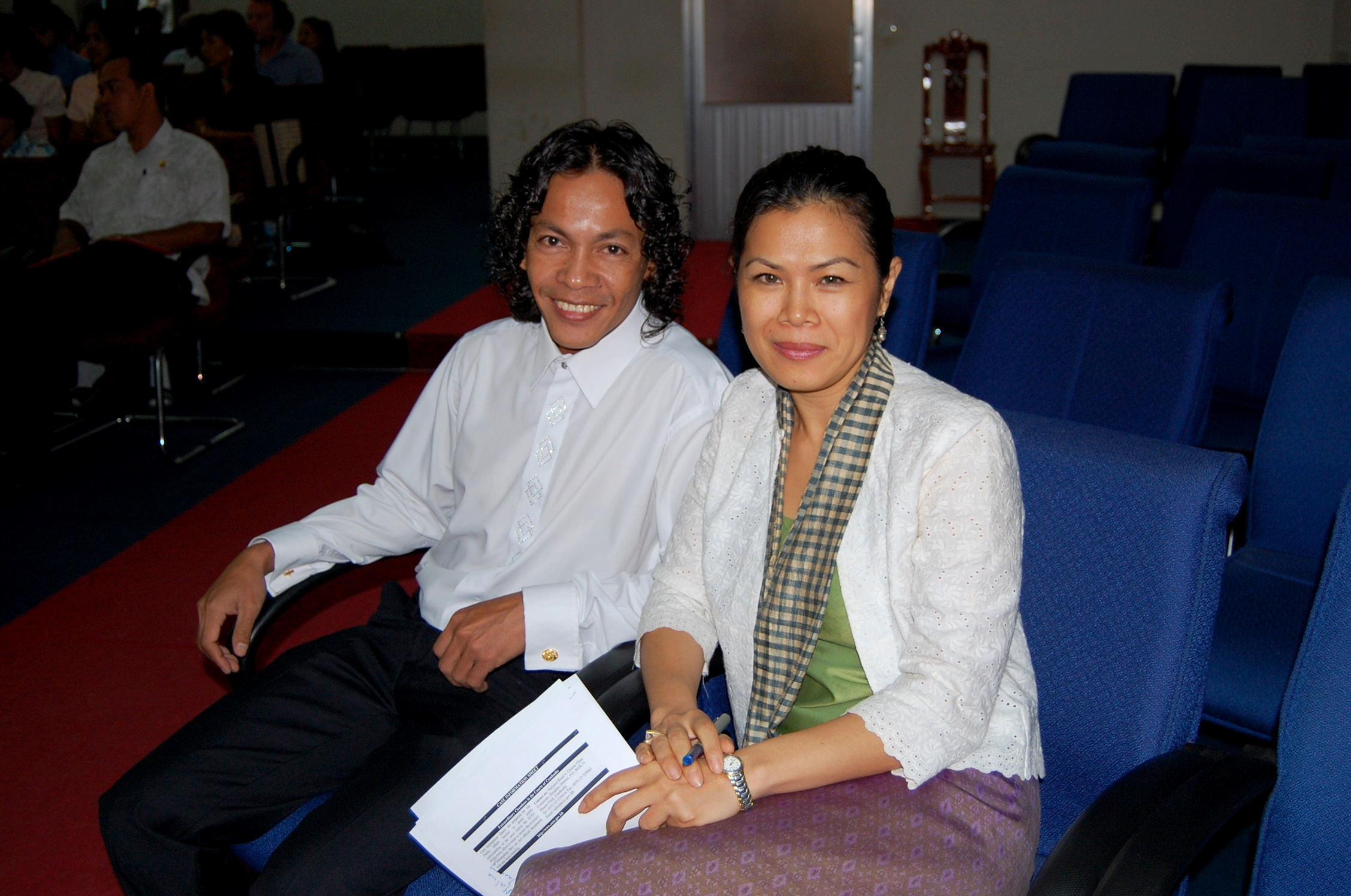 Tenor Khuon Sethisak and CJR Theary Seng, 23 July 2010