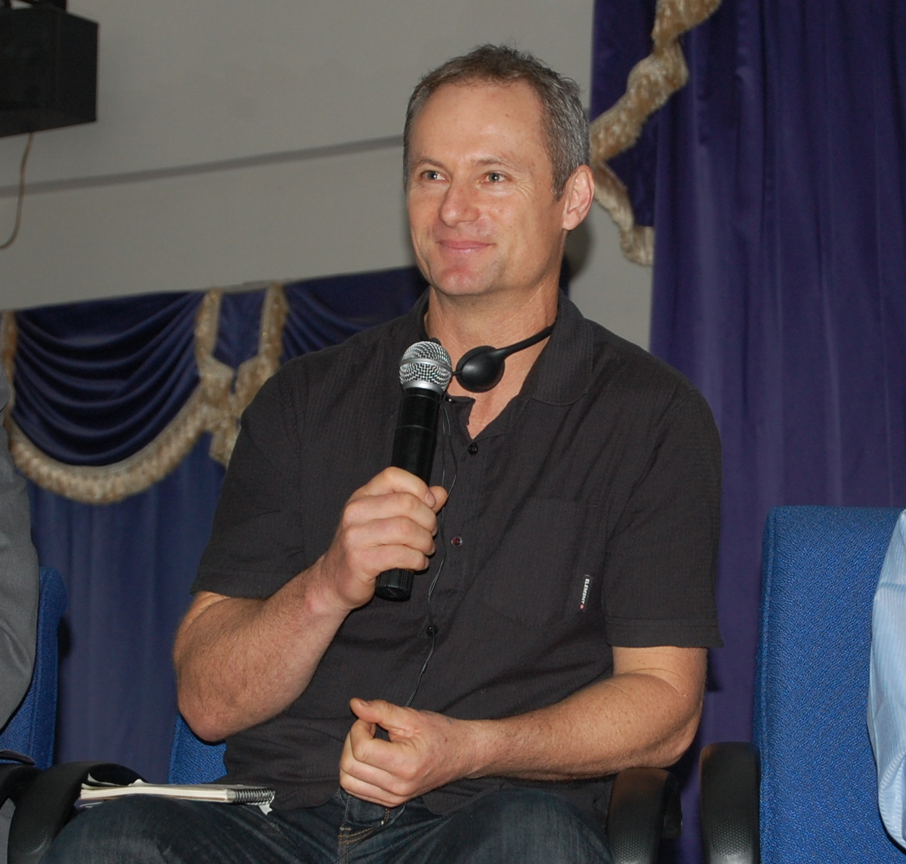 Olympian Rob Hamill at CJR public forum, 23 July 2010