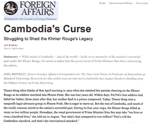 Foreign Affairs - Cambodia's Curse (Theary Seng)