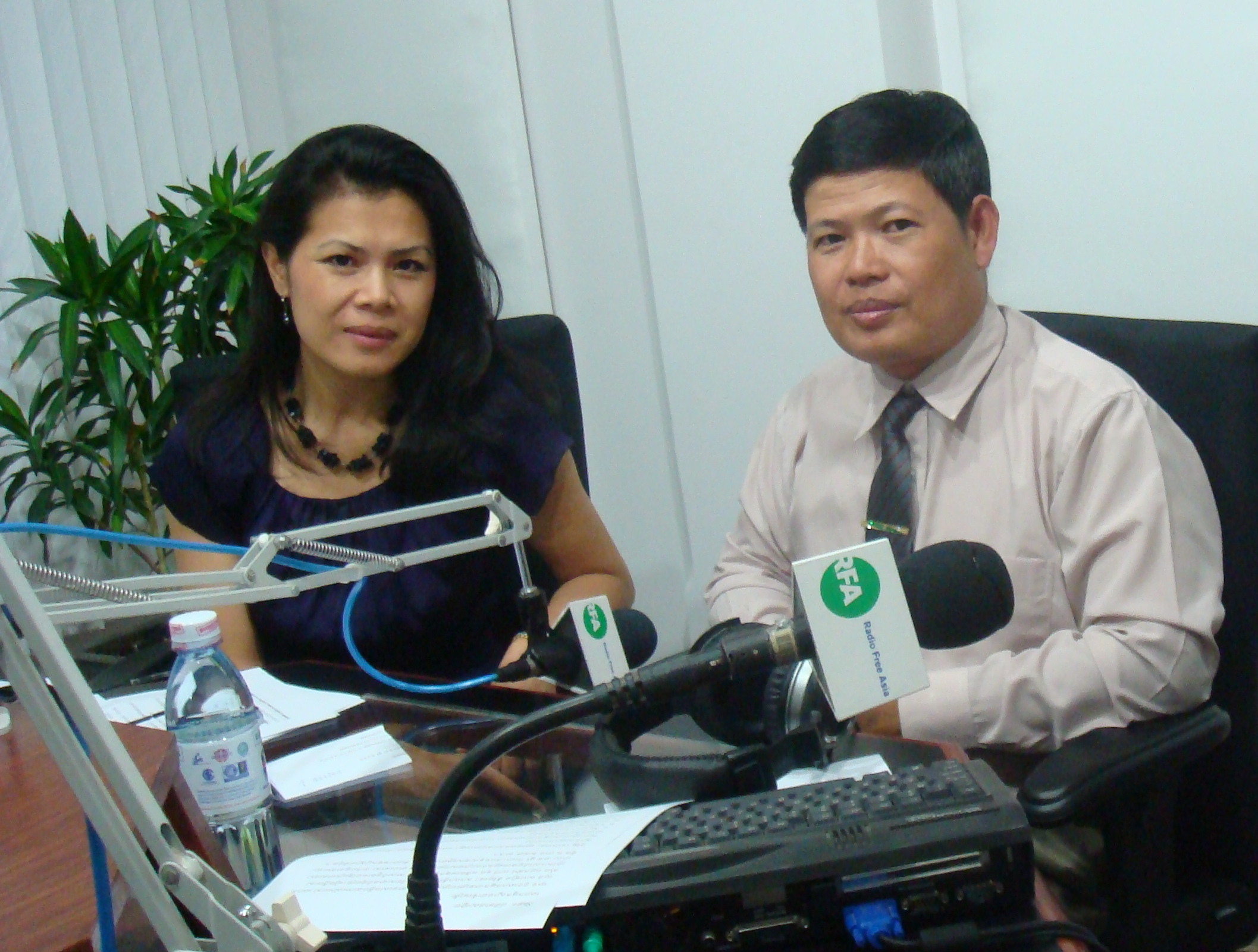Theary Seng at RFA studio for call in show post Duch verdict, 26 July 2010