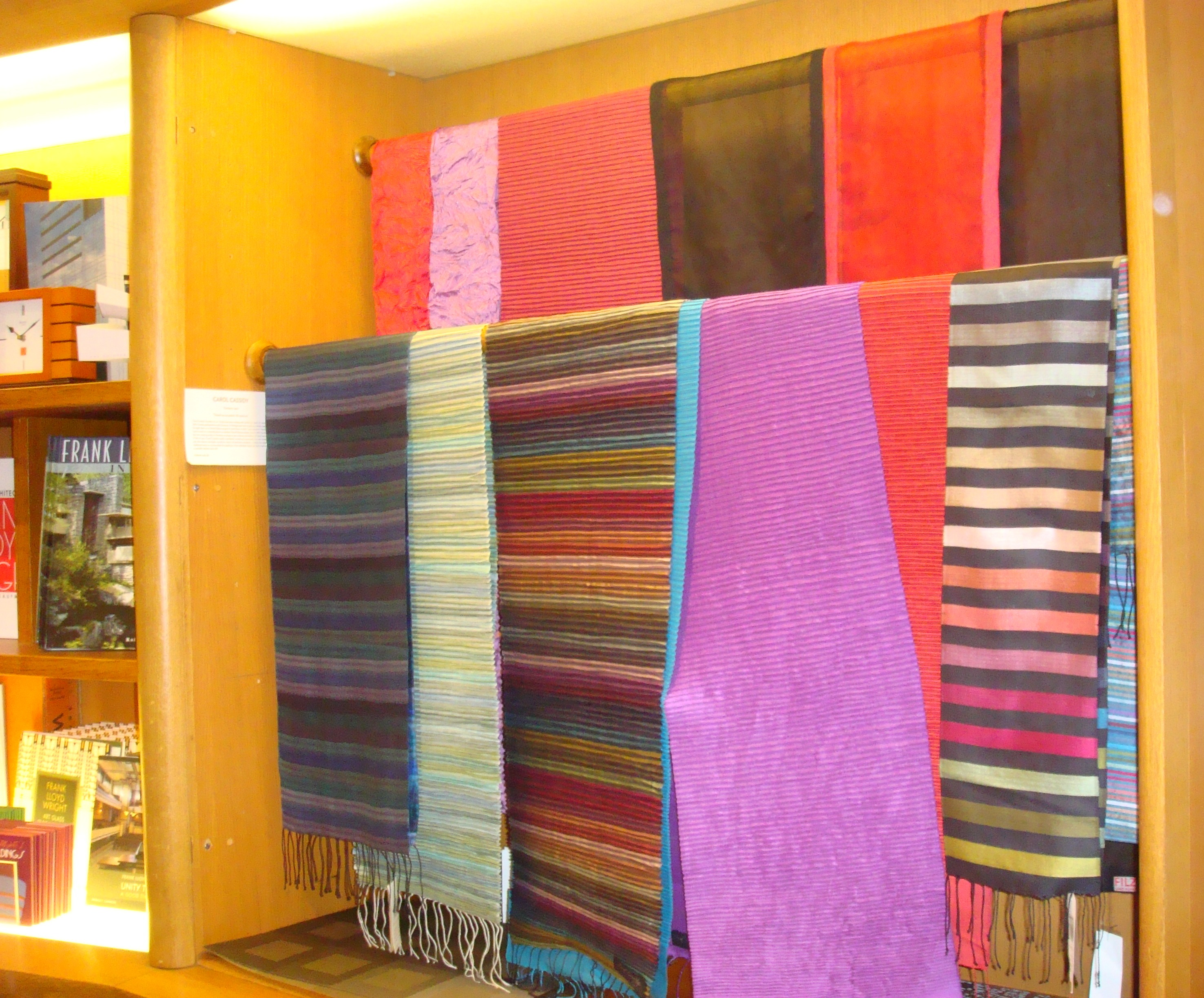 Cambodian silk scarves by Carol Cassidy at Guggenheim Museum (NYC, March 2010)