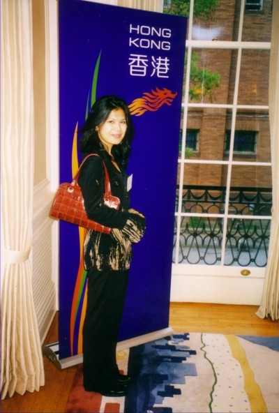 Theary Seng at reception in Washington, DC (2003)