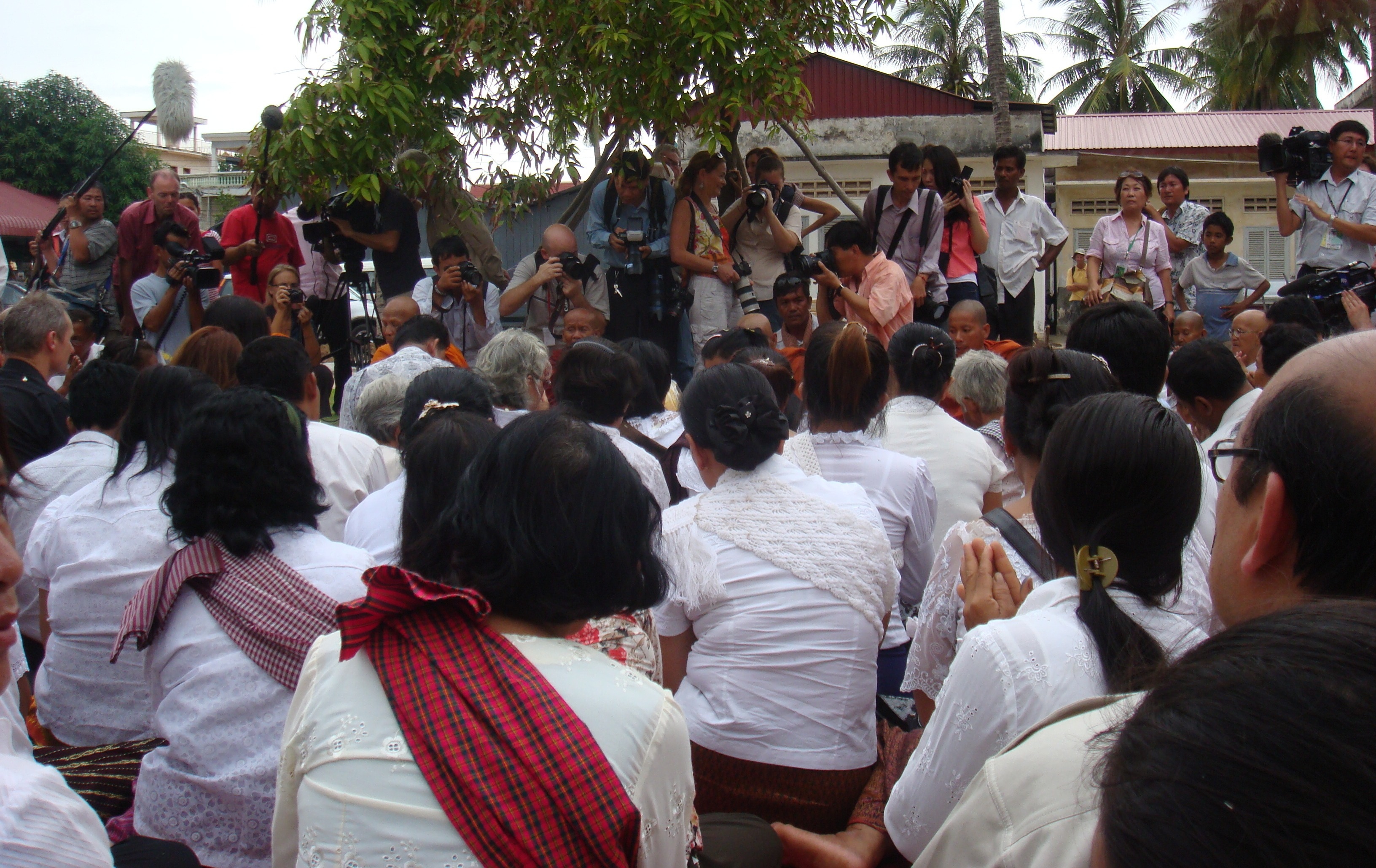 Theary Seng at Tuol Sleng, Sunday 25 July 2010