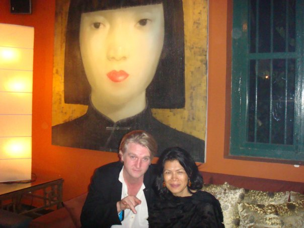 Theary Seng and Detlev Buck after party of premiere Same Same But Different at the Chinese House
