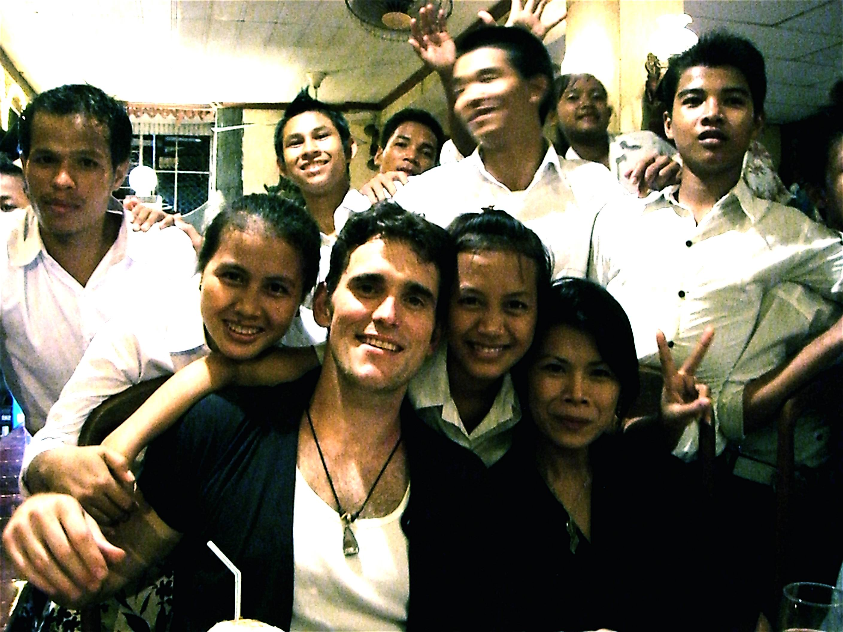 Matt Dillon and Theary Seng at Ponlork Restaurant (Sept. 2007)