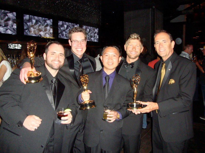 praCh and team after Emmy wins, San Diego, 26 June 2010