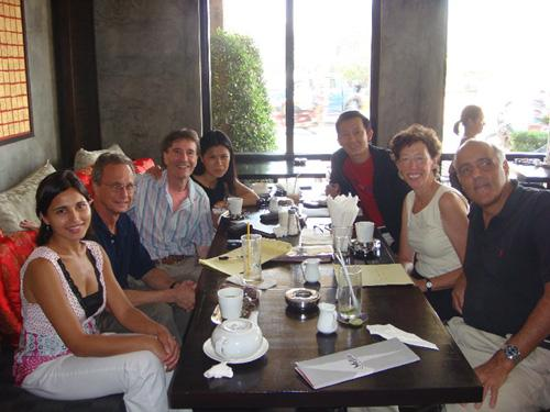 Theary Seng with David Cohen, Phil Estemann, Michelle Stagss, Matthew Robinson, Heather Ryan and KMF at Metro (2007)
