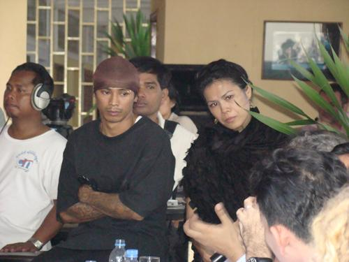 Theary Seng and KK at the Human Rights Panel hosted by Theary Seng for interns (FCC, 2008)