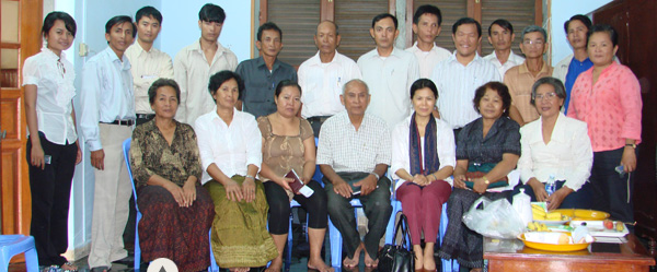 Theary Seng founding the Center for Justice & Reconciliation with civil party applicants, 2009