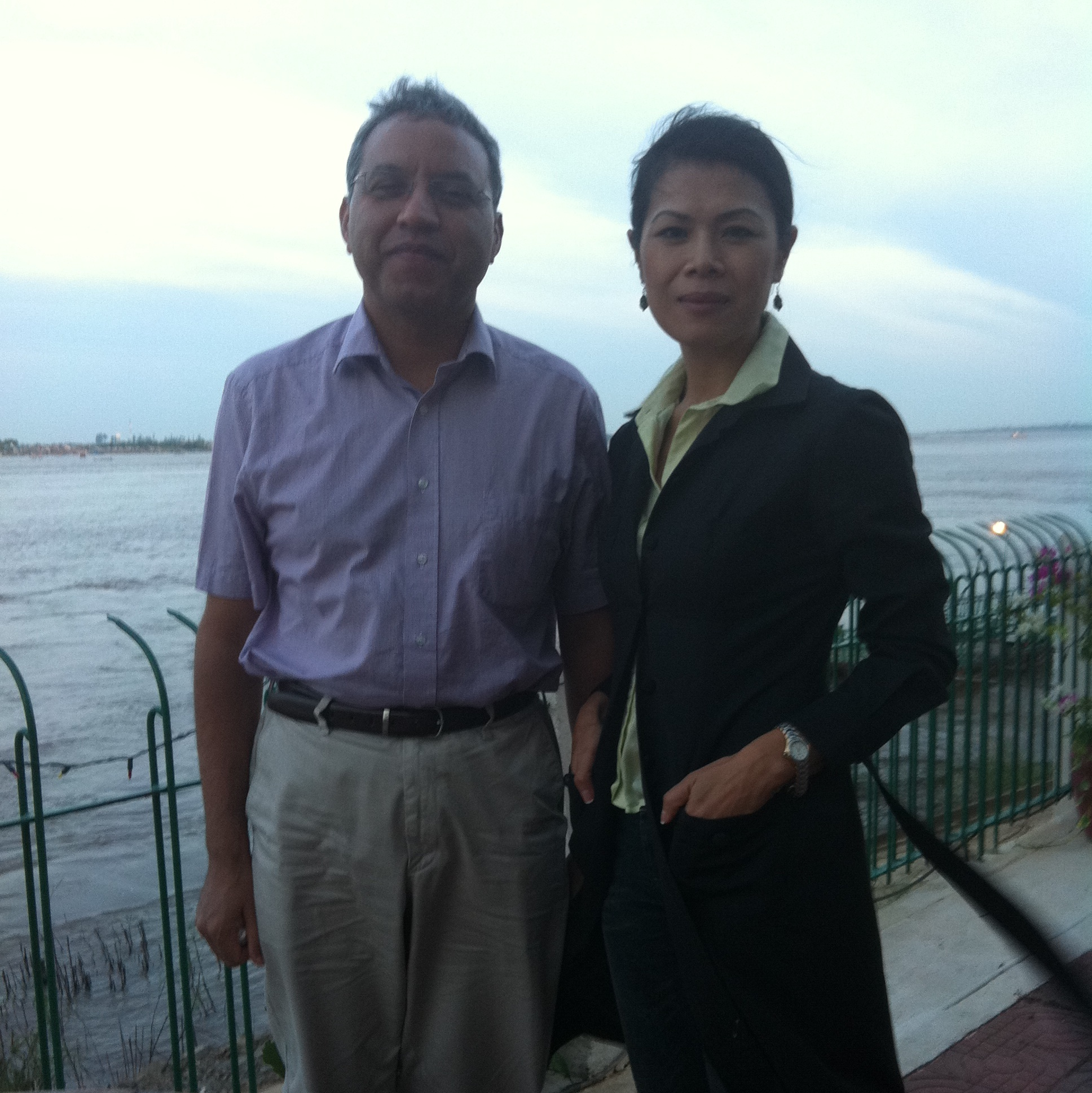 Theary Seng with Surya Subedi, 10 Dec. 2011