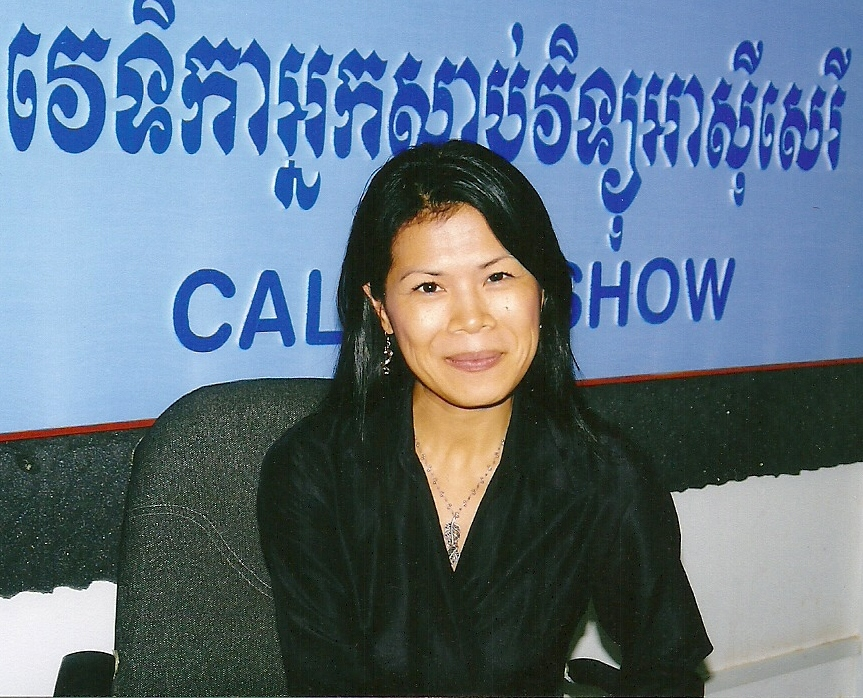 Theary Seng, 2007 at RFA studio PNH