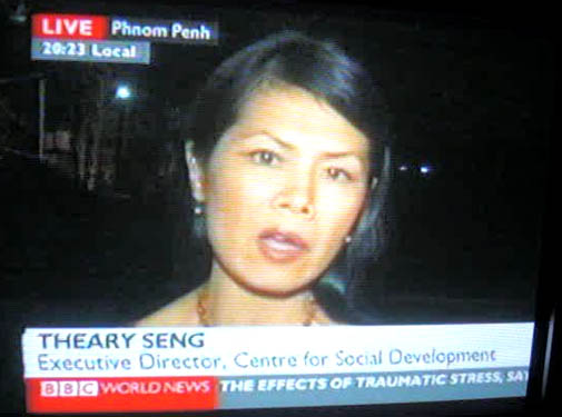 Theary Seng live on BBC, Jan. 2009