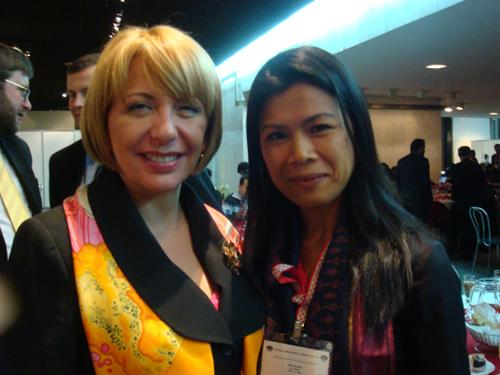 Theary Seng and Madam Yuschenko of Ukraine
